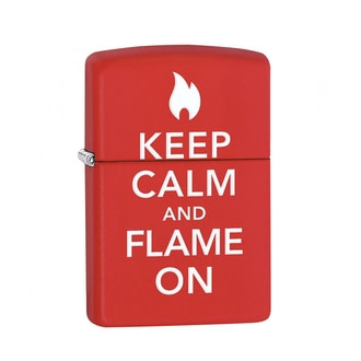 Зажигалка Zippo Keep Calm Flame On 28671