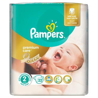 Подгузники Pampers Premium Care Mini 2 (3-6 кг)