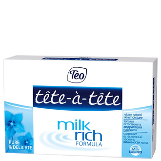 Мыло твердое Tete-a-tete Milk Rich Formula Pure And Delicate Сare