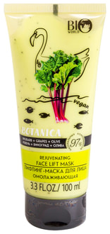 Лифтинг-маска Bio World Botanica Rhubarb Grapes olive Rejuvenating Face Lift Mask