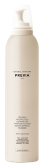 Пена для волос Previa Natural Haircare Style & Finish Mousse Extra Strong