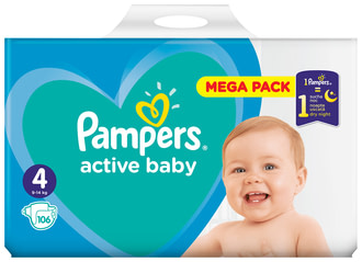 Підгузки Pampers Active Baby Maxi 4 (9-14 кг)