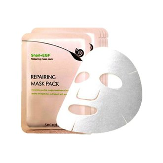 Фото Маска для лица восстанавливающая с экстрактом слизи улиток Secret Key Snail + EGF Repairing Mask