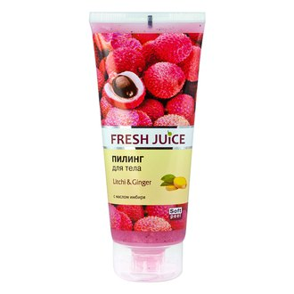 Фото Пилинг для тела с маслом имбиря Fresh Juice Litchi & Ginger