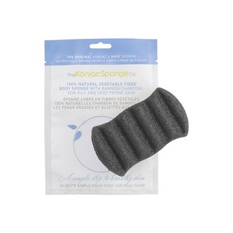 Фото Конжаковый спонж для тела с древесным углем The Konjac Sponge Co 6 Wave Body Bamboo Charcoal