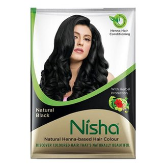 Фото Хна для волос черная Nisha Natural Henna Based Hair Color Natural Black