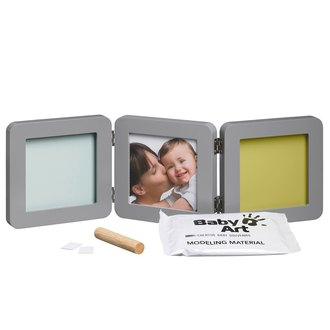Фото Двойная рамочка с отпечатком Baby Art Double Print Frame Taupe and Azure-Sun