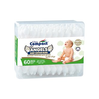 Фото Ватные палочки Ultra Compact Angels Baby Cotton Buds