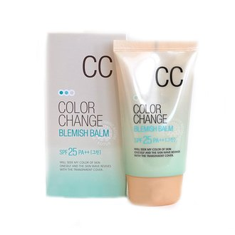 Фото CC крем с капсулами Welcos Lotus Color Change Blemish Balm