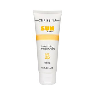 Фото Солнцезащитный крем Christina SunScreen Moisturizing Cream With Vitamin E Physical SPF25 Tinted
