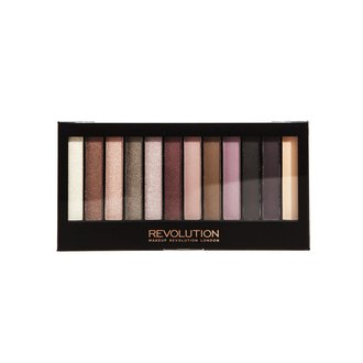 Фото Палетка из 12 теней для век Makeup Revolution Redemption Eyeshadow Palette Romantic Smoked