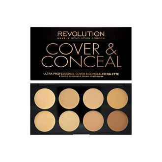 Фото Палитра консилеров для лица Makeup Revolution Ultra Cover And Conceal Palette