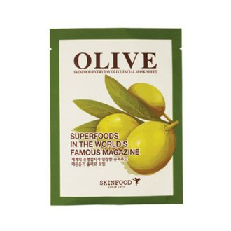 Фото Тканевая маска для лица с экстрактом оливы SkinFood Everyday Facial Mask Sheet Olive