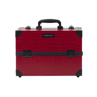 Фото Косметический кейс Inglot Makeup Case Crocodile Leather Pattern Medium Red KC-PAC01