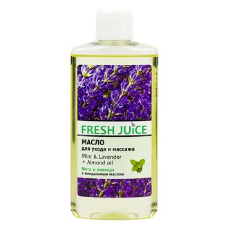 Фото Масло для ухода и массажа Fresh Juice Mint & Lavender + Almond Oil
