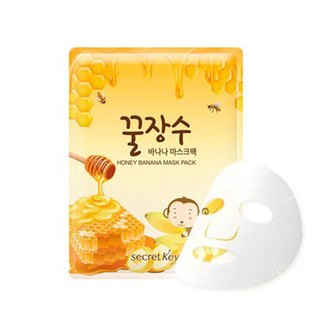 Фото Тканевая маска с экстрактами мёда и банана Secret Key Honey Banana Mask Pack