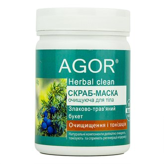 Фото Скраб-маска для тела Очищение и тонизация Agor Herbal Clean