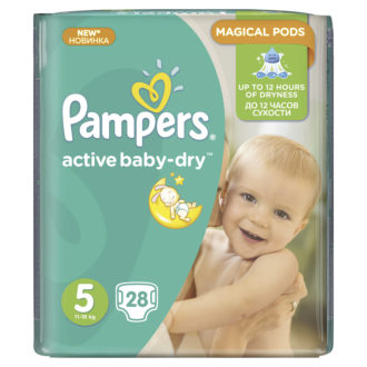 Фото Подгузники Pampers Active Baby Dry Junior 5 (11-18 кг)