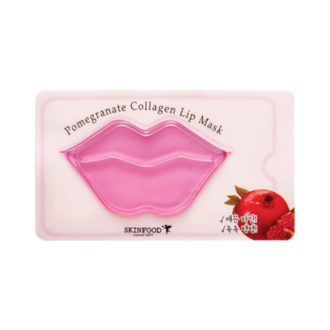 Фото Гидрогелевая маска для губ с экстрактом граната SkinFood Pomegranate Collagen Lip Mask