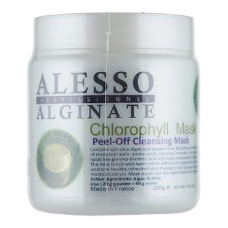 Фото Маска альгинатная с хлорофилом Alesso Professionnel Alginate Chlorophyll Peel-Off Cleansing Mask