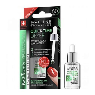Фото Cупер-сушка для ногтей 3в1 Eveline Cosmetics Quicktime Dryer Nail Therapy Professional