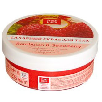 Фото Сахарный скраб для тела с маслом макадамии Рамбутан и Клубника Fresh Juice Sugar Scrub Rambutan and Strawberry